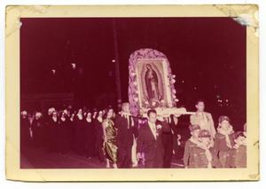 Primary view of object titled '[Photograph of a procession for Our Lady of Guadalupe]'.