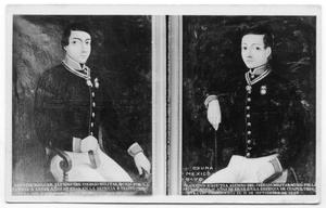 Primary view of object titled '[Postcard of Agustin Melgar and Francisco Ezcutla]'.