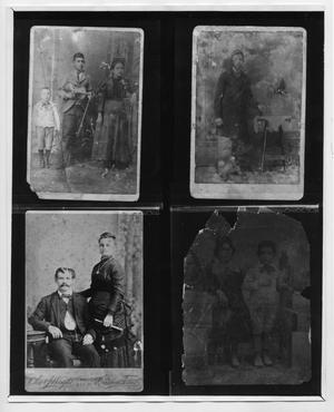 Primary view of object titled '[Composite photograph of Joe Torres's family]'.