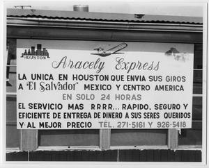 Primary view of object titled '[Aracely Express sign]'.