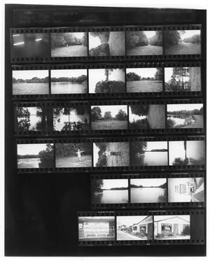 Primary view of object titled '[Contact sheet of Site of Orcoquisac and La Placita Market]'.