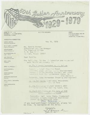 Primary view of object titled '[Letter from Toby P. Hernandez to Dorris Danner - 1979-05-10]'.