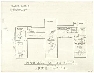 Primary view of object titled '[Penthouse on the 18th Floor, Rice Hotel]'.