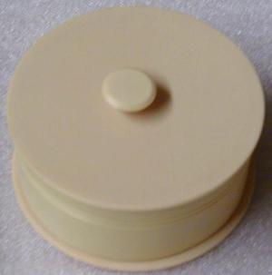 Primary view of object titled '[Round Container with Lid]'.