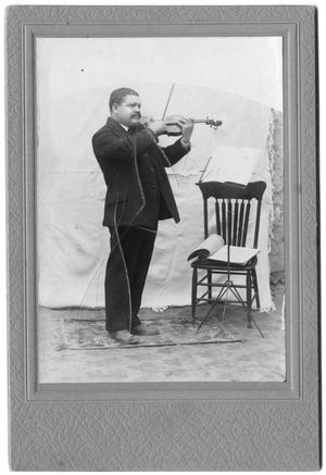 Primary view of object titled '[Man playing the violin]'.