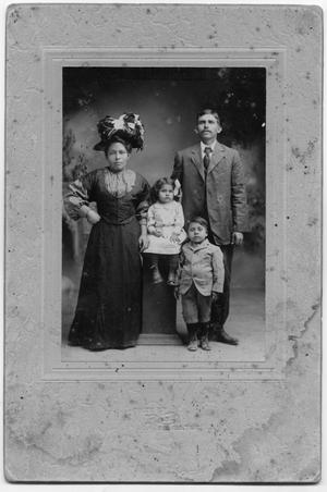 Primary view of object titled '[Photograph of the Lopez family]'.