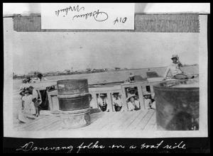 Primary view of object titled 'Danevang Folks on Boat Ride'.
