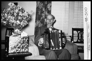 Primary view of object titled 'H. J. Berndt on Accordion'.