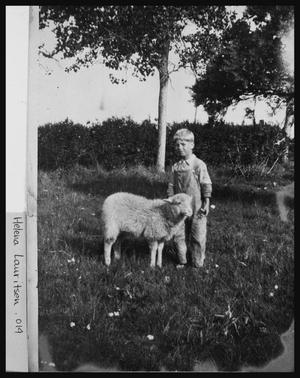 Primary view of object titled 'Leonard and His Lamb'.