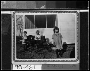 Primary view of object titled 'Carl Thyssen Girls & Wagon'.