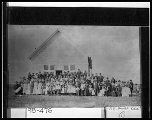Primary view of object titled 'Danevang People at Meeting House'.
