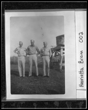 Primary view of object titled 'Bram Brothers in WW2 Uniform'.