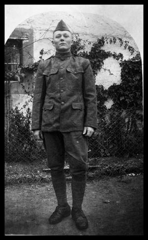Primary view of object titled 'Charlie Schaer WW1 Soldier'.