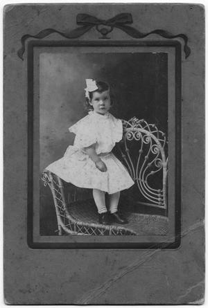 Primary view of object titled '[Portrait of an Olson Child on Chair]'.