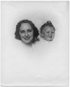 Primary view of object titled '[Portrait of Marie Strarup Moers & Son George Moers]'.