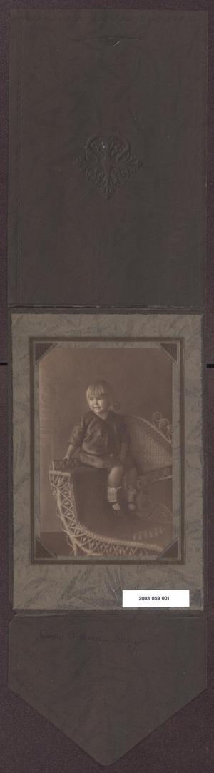 Primary view of object titled '[Portrait of Doris Andersen Seated on Chair]'.
