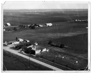 Primary view of object titled '[Aerial Photograph of School]'.