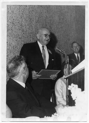 Primary view of object titled 'Harold Hansen receiving award'.