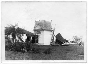 Primary view of object titled '[Demolished Church and Fallen Tree]'.