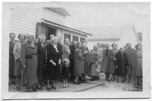 Primary view of object titled '[Elder Women at Danish Ladies Aid Anniversary]'.