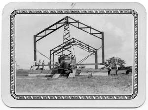 Primary view of object titled '[Danevang Lutheran Church Under Construction]'.