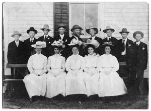 Primary view of object titled '[Confirmation Class of 1908, Danevang Lutheran Church]'.
