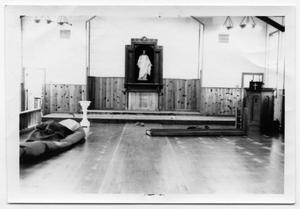 Primary view of object titled '[Another Horizontal View of Danevang Lutheran Church Chapel During Remodeling]'.