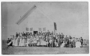 Primary view of object titled '[Danevang Citizens at the Danevang Community Hall]'.