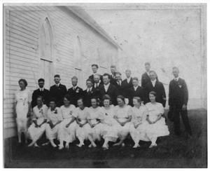Primary view of object titled '[Confirmation Class of 1920, Danevang Lutheran Church]'.