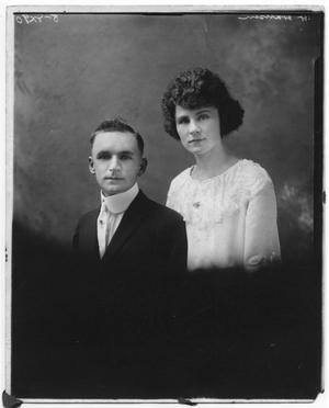 Primary view of object titled '[Wedding Portrait of Harold Hansen and Ella Olsen Hansen]'.