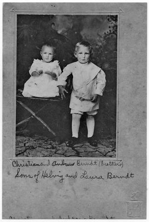 Primary view of object titled '[Portrait of Two Young Brothers, Andreas and Christian Berndt]'.