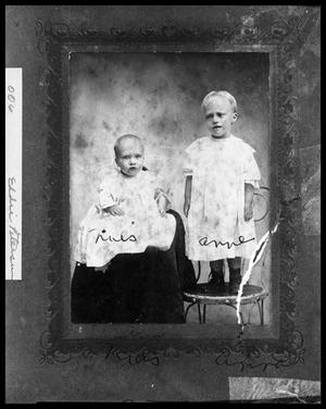 Primary view of object titled '[Portrait of Two Children, Niels and Anne Petersen]'.