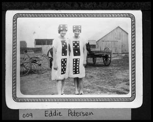 Primary view of object titled '[Pair of Women Dressed as Dominoes]'.