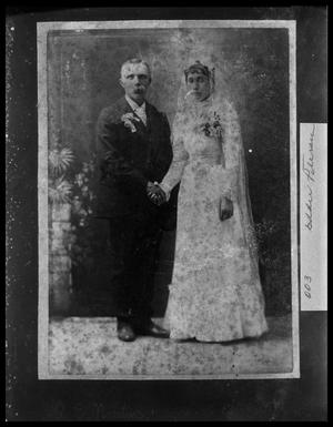 Primary view of object titled '[Wedding Portrait of Marius Christensen and Thora Marie Jorgine Fredericksen]'.
