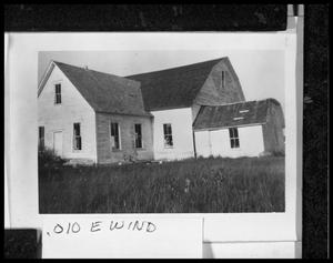 Primary view of object titled '[Danevang Community Hall After Hurricane in 1945]'.