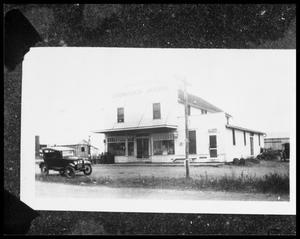 Primary view of object titled '[Historical Grocery Store in Danevang]'.