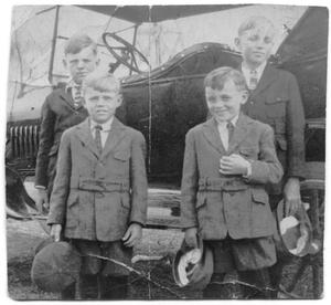 Primary view of object titled 'Young Boys in Front of Car'.