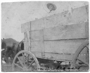 Primary view of object titled 'Sam Brodsgaard in Wagon'.