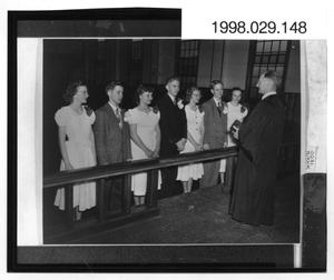 Primary view of object titled '[1949 Confirmation Class of Danevang Lutheran Church]'.
