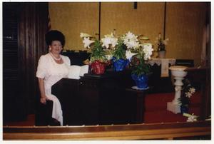Primary view of object titled 'Patty at Piano in Church'.