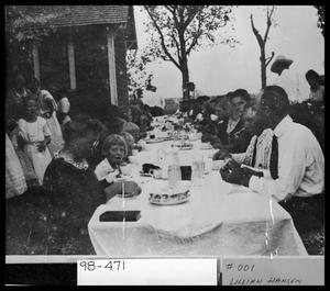 Primary view of object titled 'Outdoor Dinner Scene'.
