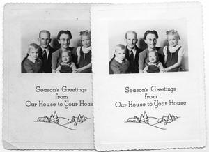 Primary view of object titled '[Duus Family Holiday Greeting Photograph]'.