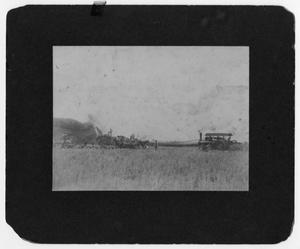 Primary view of object titled 'Threshing Rice on O. R. Johnson's Rice Farm'.