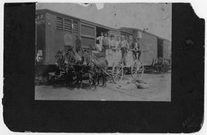 Primary view of object titled 'Danevang People Hauling Cotton Seed to El Campo'.