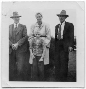Primary view of object titled '[Olaf and Lillian Hansen and Two Others]'.