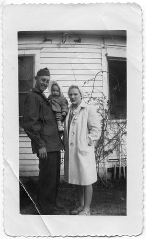 Primary view of object titled 'Melvin & Marjorie Hansen with Son Dennis'.