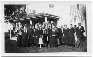 Primary view of object titled '[Danish Ladies Aid at Parsonage]'.