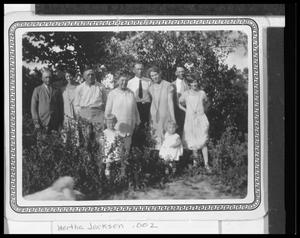 Primary view of object titled 'P.J.A. Petersen Family in Johanna's Garden'.
