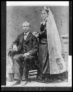 Primary view of object titled '[Wedding Portrait of H. P. and Maren Jensen]'.