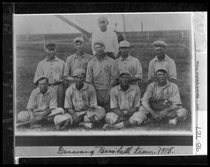 Primary view of object titled '[1915 Danevang Baseball Team]'.